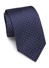 Brioni Square-Motif Raw-Silk Tie