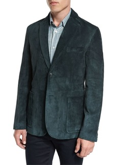 Brioni Suede Two-Button Blazer