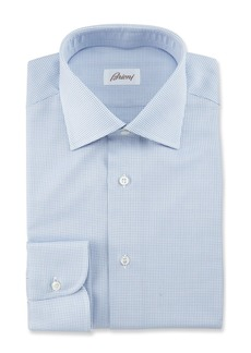 Brioni Textured Grid Dress Shirt