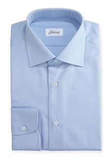 Brioni Textured Micro-Diamond Dress Shirt