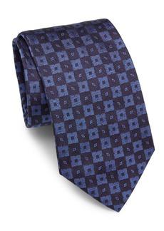 Brioni Textured Square Silk Tie