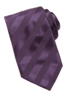 Brioni Textured-Stripe Silk Tie