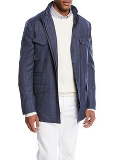 Brioni Textured Wool Field Jacket