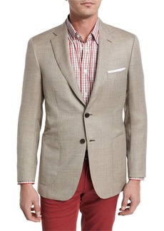 Brioni Textured Wool-Silk Two-Button Blazer