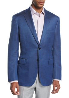 Brioni Textured Wool-Silk Two-Button Sport Coat