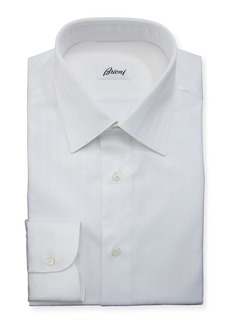 Brioni Tonal-Stripe Cotton Dress Shirt
