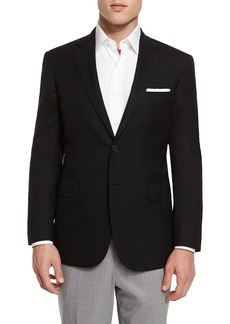 Brioni Twill Two-Button Blazer