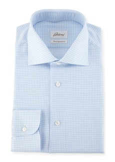 Brioni Ventiquattro Gingham Cotton Dress Shirt