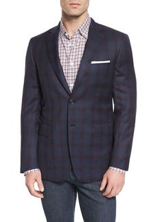 Brioni Windowpane Tic Two-Button Sport Coat