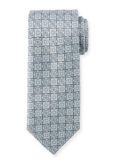Brioni Woven Tiles Silk Tie
