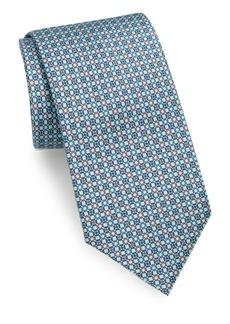 Brioni Chain Link Dot Print Tie