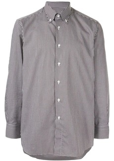 Brioni check button-down shirt