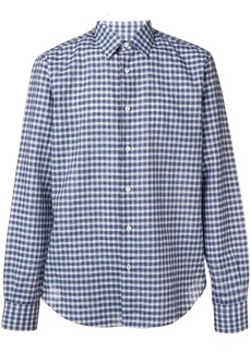 Brioni check buttoned shirt