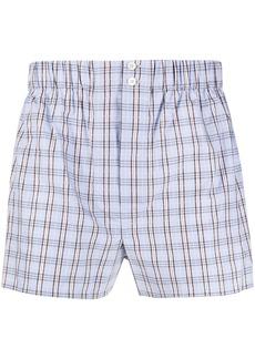 Brioni check print boxers