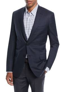 Brioni Check Wool Two-Button Jacket