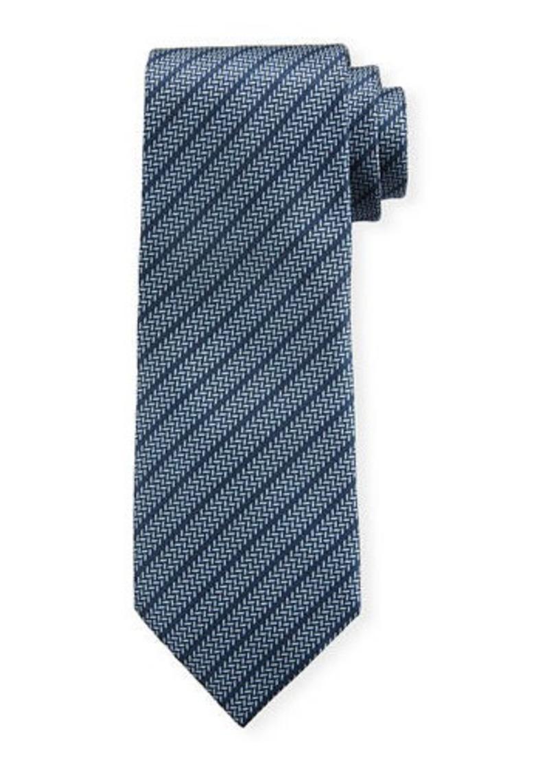Brioni Chevron Stripe Silk Tie