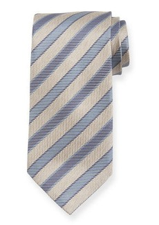 Brioni Chevron Striped Silk Tie