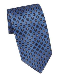 Brioni Circle Medallion Silk Tie