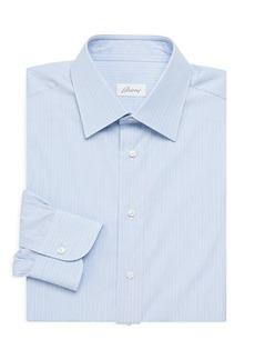 Brioni Classic-Fit Pinstripe Dress Shirt