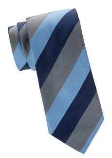 Brioni Colorblock Striped Tie