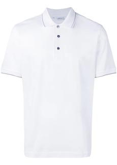Brioni contrasting trim polo shirt