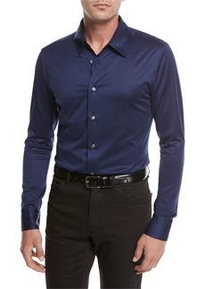 Brioni Cotton Jersey Knit Shirt