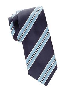Brioni Diagonal Stripe Silk Tie