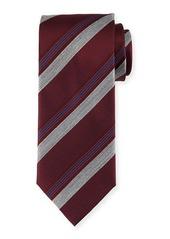 Brioni Diagonal-Stripe Silk Tie