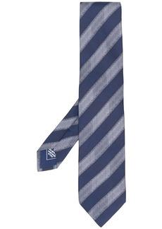 Brioni diagonal stripes silk tie