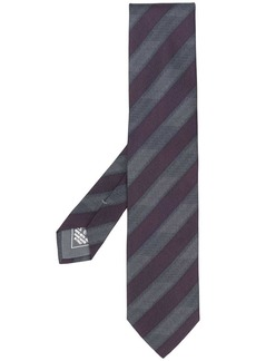 Brioni diagonal stripes silk tie