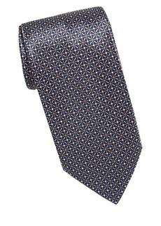Brioni Diamond Grid Silk Tie