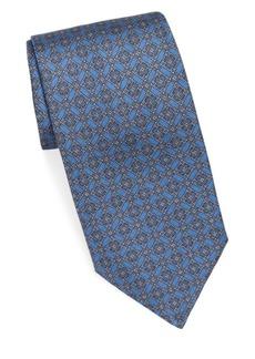 Brioni Diamond Medallion Silk Tie