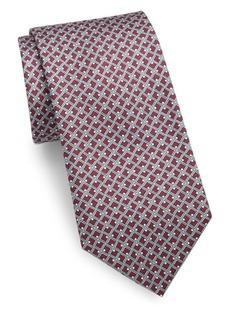 Brioni Diamond Print Silk Tie