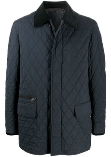 Brioni diamond-quilted jacket