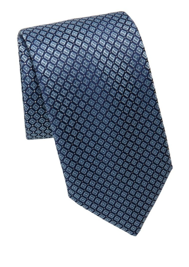 Brioni Diamond Square Silk Tie