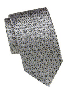 Brioni Digital Print Silk Tie
