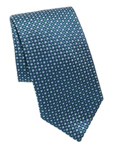 Brioni Dot Game Print Silk Tie