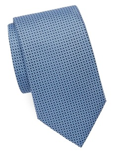 Brioni Dot Grid Silk Tie