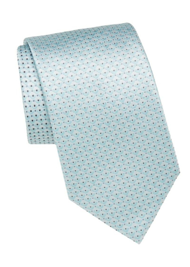 Brioni Dot Patterned Silk Tie