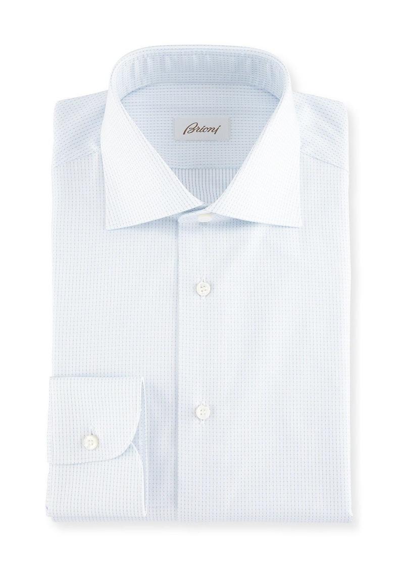 Brioni Dot-Print Cotton Dress Shirt