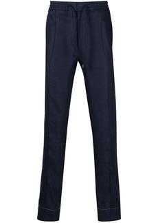 Brioni drawstring linen trousers