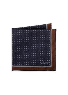Brioni Fantasy Micro-Print Pocket Square