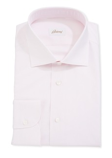 Brioni Fine Striped Cotton Dress Shirt