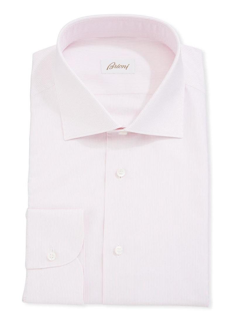 Brioni Fine Striped Cotton Dress Shirt