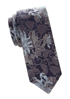 Brioni Floral Jacquard Silk Tie