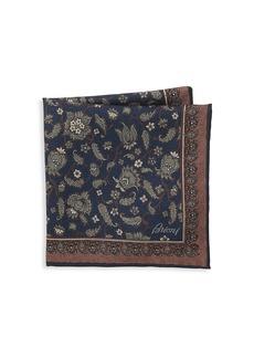 Brioni Floral Print Pocket Square