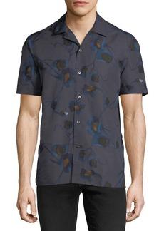 Brioni Floral Short-Sleeve Sport Shirt