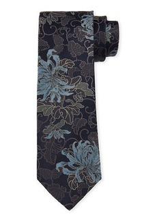 Brioni Floral Silk Tie