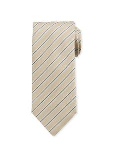 Brioni Framed Stripe Silk Tie