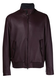 Brioni front zipped bomber jacket